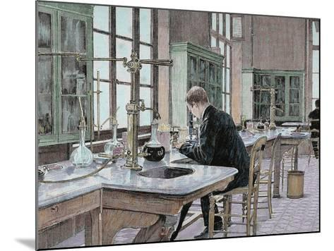 French Chemist and Bacteriologist. Study of Microbes in the Pasteur Institute-Prisma Archivo-Mounted Photographic Print