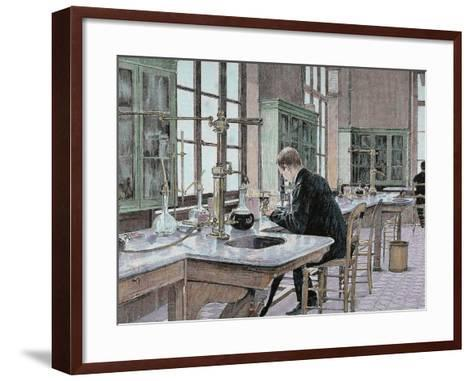 French Chemist and Bacteriologist. Study of Microbes in the Pasteur Institute-Prisma Archivo-Framed Art Print