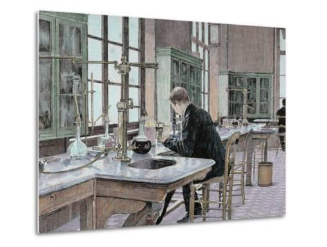 French Chemist and Bacteriologist. Study of Microbes in the Pasteur Institute-Prisma Archivo-Metal Print