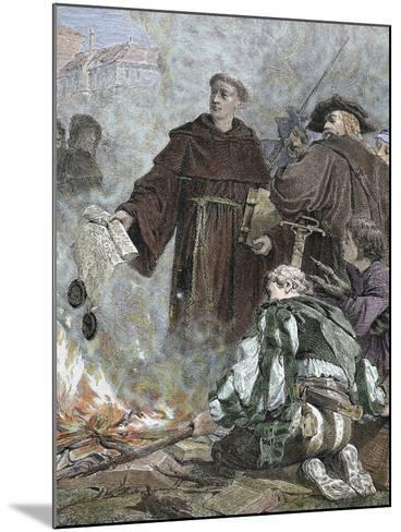 German Reformer, Luther Burning the Papal Bull 'Exsurge Domine' (1520) of Pope Leo X-Prisma Archivo-Mounted Photographic Print