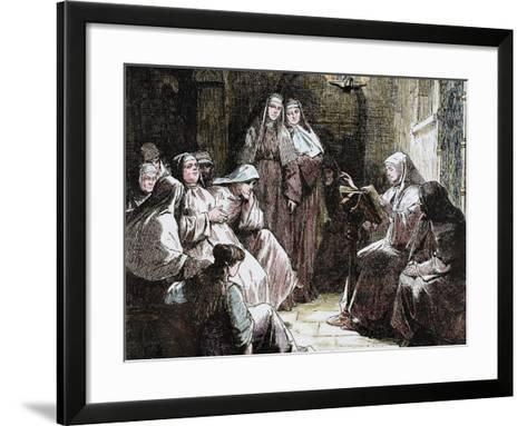 Cloistered Nuns, Gospel Reading, 19th Century-Prisma Archivo-Framed Art Print