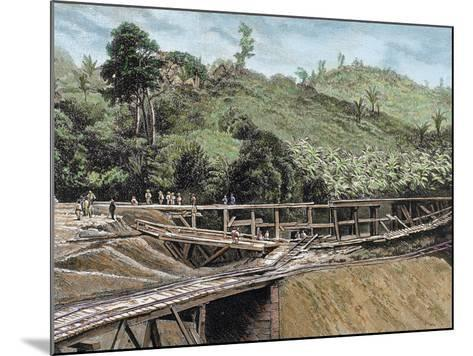 Construction of the Panama Canal. Works in Bridge Called 'Alto-Obispo'-Prisma Archivo-Mounted Photographic Print