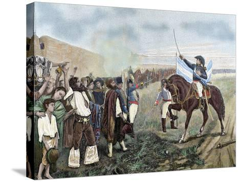 Independence of Argentina. Manuel Belgrano (1770-1820)-Prisma Archivo-Stretched Canvas Print
