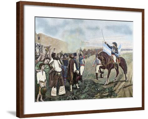 Independence of Argentina. Manuel Belgrano (1770-1820)-Prisma Archivo-Framed Art Print