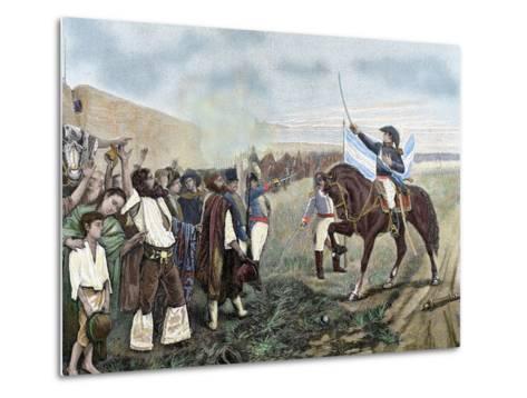 Independence of Argentina. Manuel Belgrano (1770-1820)-Prisma Archivo-Metal Print