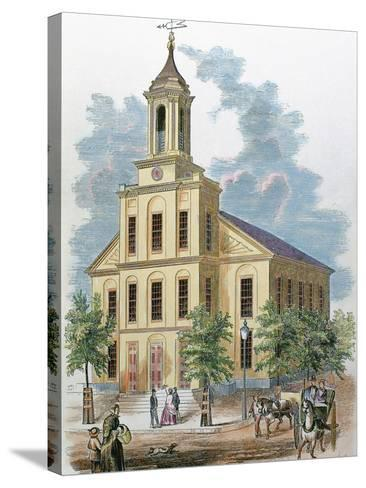 St. Charles' Church. Boston, Massachusetts, Usa-Prisma Archivo-Stretched Canvas Print