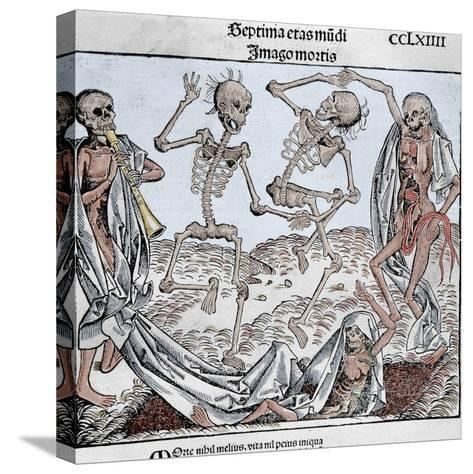 The Dance of Death (1493) by Michael Wolgemut, from the Liber Chronicarum by Hartmann Schedel-Prisma Archivo-Stretched Canvas Print