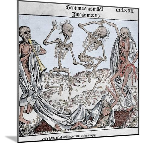 The Dance of Death (1493) by Michael Wolgemut, from the Liber Chronicarum by Hartmann Schedel-Prisma Archivo-Mounted Photographic Print