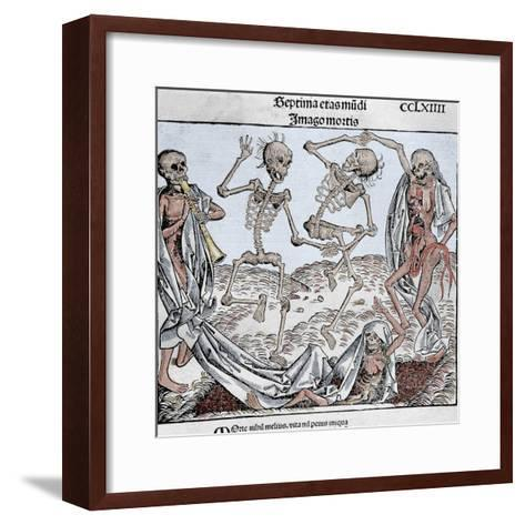 The Dance of Death (1493) by Michael Wolgemut, from the Liber Chronicarum by Hartmann Schedel-Prisma Archivo-Framed Art Print