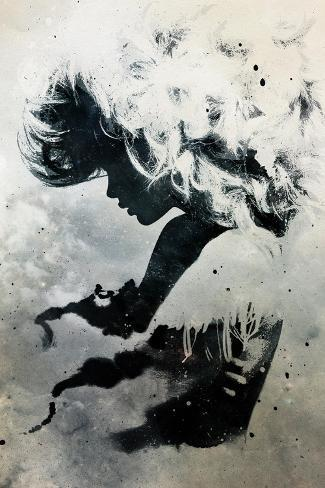 Black Cloud-Alex Cherry-Stretched Canvas Print