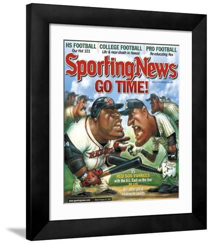 New York Yankees and Boston Red Sox - August 27, 2007--Framed Art Print