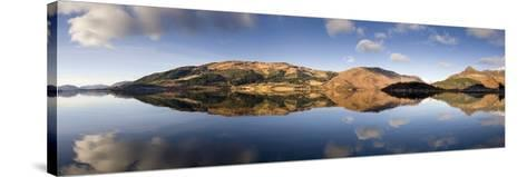 Panoramic View of Loch Levan in Calm Conditions with Reflections of Distant Mountains, Scotland-Lee Frost-Stretched Canvas Print