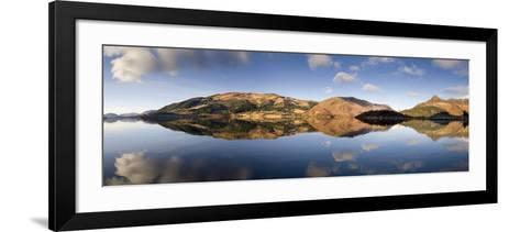 Panoramic View of Loch Levan in Calm Conditions with Reflections of Distant Mountains, Scotland-Lee Frost-Framed Art Print