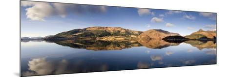 Panoramic View of Loch Levan in Calm Conditions with Reflections of Distant Mountains, Scotland-Lee Frost-Mounted Photographic Print