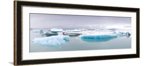 Icebergs Floating on the Jokulsarlon Glacial Lagoon, Iceland, Polar Regions-Lee Frost-Framed Art Print