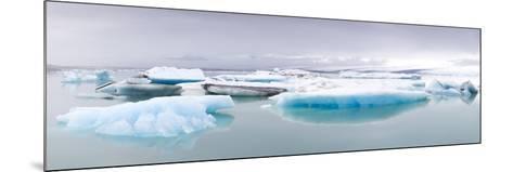 Icebergs Floating on the Jokulsarlon Glacial Lagoon, Iceland, Polar Regions-Lee Frost-Mounted Photographic Print