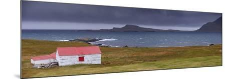 Red-Roofed House in Stodvarfjordur Fjord, East Fjords Region (Austurland), Iceland, Polar Regions-Patrick Dieudonne-Mounted Photographic Print