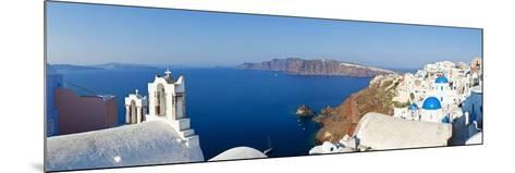 Blue Domed Churches in the Village of Oia, Santorini (Thira), Cyclades Islands, Aegean Sea, Greece-Gavin Hellier-Mounted Photographic Print