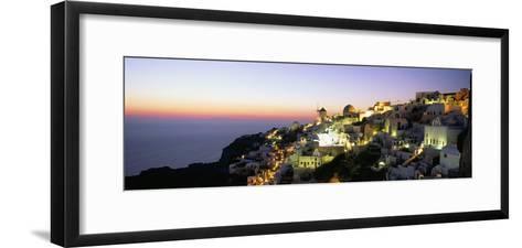 Oia (Ia), Island of Santorini (Thira), Cyclades Islands, Aegean, Greek Islands, Greece, Europe-Sergio Pitamitz-Framed Art Print