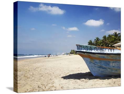 Mount Lavinia Beach, Mount Lavinia, Colombo, Sri Lanka, Asia-Ian Trower-Stretched Canvas Print