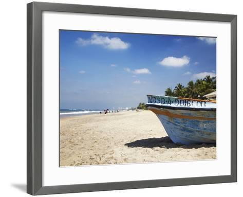 Mount Lavinia Beach, Mount Lavinia, Colombo, Sri Lanka, Asia-Ian Trower-Framed Art Print
