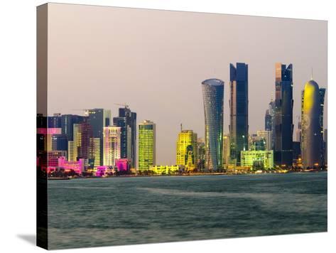 Modern Skyline, Doha, Qatar, Middle East-Alan Copson-Stretched Canvas Print