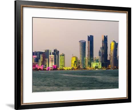 Modern Skyline, Doha, Qatar, Middle East-Alan Copson-Framed Art Print