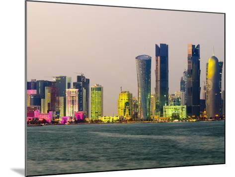 Modern Skyline, Doha, Qatar, Middle East-Alan Copson-Mounted Photographic Print