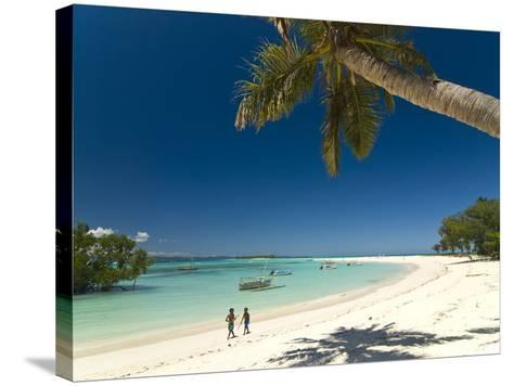 Beautiful Beach in Nosy Iranja, a Little Island Near Nosy Be, Madagascar, Indian Ocean, Africa-Michael Runkel-Stretched Canvas Print