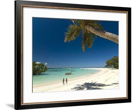 Beautiful Beach in Nosy Iranja, a Little Island Near Nosy Be, Madagascar, Indian Ocean, Africa-Michael Runkel-Framed Art Print
