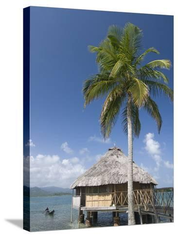 Hut Over Water, Yandup Island, San Blas Islands (Kuna Yala Islands), Panama, Central America-Richard Maschmeyer-Stretched Canvas Print