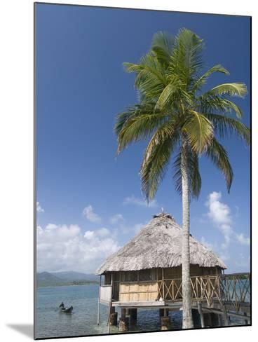 Hut Over Water, Yandup Island, San Blas Islands (Kuna Yala Islands), Panama, Central America-Richard Maschmeyer-Mounted Photographic Print
