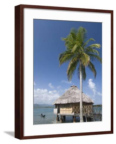 Hut Over Water, Yandup Island, San Blas Islands (Kuna Yala Islands), Panama, Central America-Richard Maschmeyer-Framed Art Print