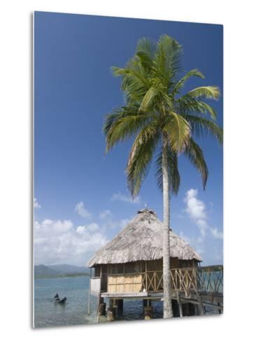 Hut Over Water, Yandup Island, San Blas Islands (Kuna Yala Islands), Panama, Central America-Richard Maschmeyer-Metal Print