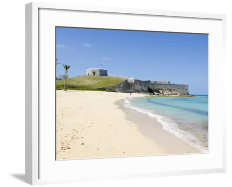 Gate's Bay (St. Catherine's Beach) With Fort St. Catherine in Background, Bermuda-Michael DeFreitas-Framed Art Print