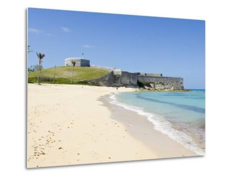 Gate's Bay (St. Catherine's Beach) With Fort St. Catherine in Background, Bermuda-Michael DeFreitas-Metal Print