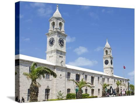 Clock Tower (Mall) at the Royal Naval Dockyard, Bermuda, Central America-Michael DeFreitas-Stretched Canvas Print