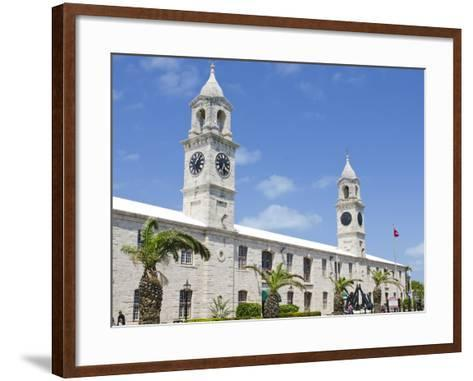Clock Tower (Mall) at the Royal Naval Dockyard, Bermuda, Central America-Michael DeFreitas-Framed Art Print
