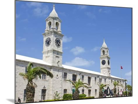 Clock Tower (Mall) at the Royal Naval Dockyard, Bermuda, Central America-Michael DeFreitas-Mounted Photographic Print