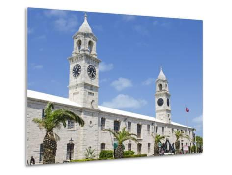 Clock Tower (Mall) at the Royal Naval Dockyard, Bermuda, Central America-Michael DeFreitas-Metal Print