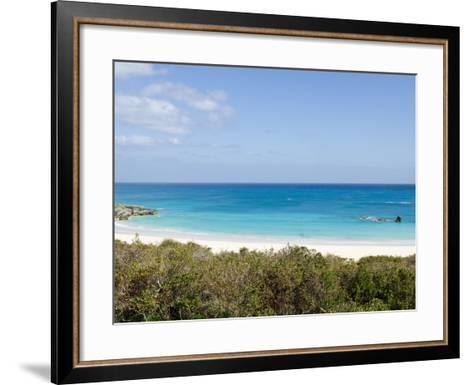 Horseshoe Bay Beach, Bermuda, Central America-Michael DeFreitas-Framed Art Print