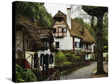 Traditional Madeira House, Queimadas, Madeira, Portugal, Atlantic Ocean, Europe-Jochen Schlenker-Stretched Canvas Print
