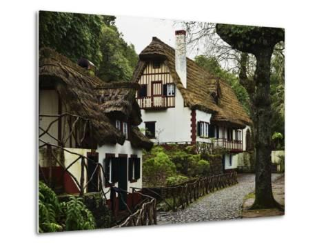 Traditional Madeira House, Queimadas, Madeira, Portugal, Atlantic Ocean, Europe-Jochen Schlenker-Metal Print