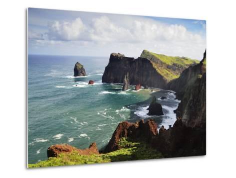 Ponta Do Castelo, Madeira, Portugal, Atlantic Ocean, Europe-Jochen Schlenker-Metal Print