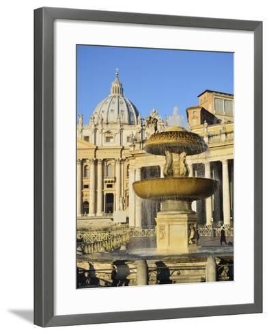 St. Peter's Basilica, Piazza San Pietro (St. Peter's Square), Vatican City, Rome, Lazio, Italy-Jochen Schlenker-Framed Art Print