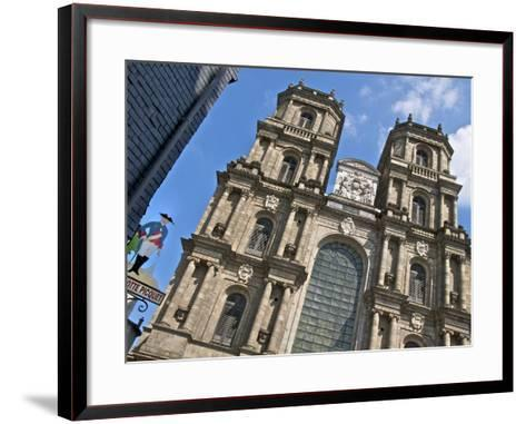 Facade, Cathedral St. Pierre, Built in 1844, Old Rennes, Brittany, France, Europe-Guy Thouvenin-Framed Art Print