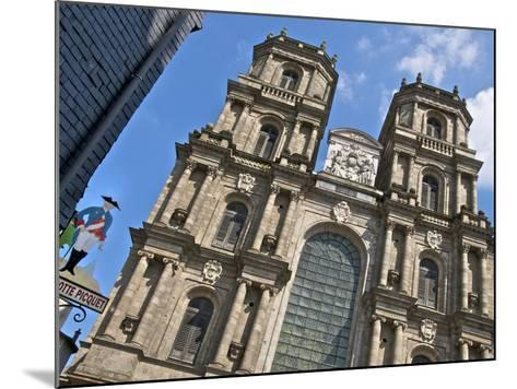Facade, Cathedral St. Pierre, Built in 1844, Old Rennes, Brittany, France, Europe-Guy Thouvenin-Mounted Photographic Print