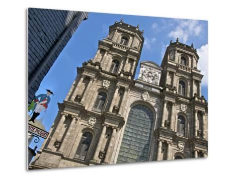 Facade, Cathedral St. Pierre, Built in 1844, Old Rennes, Brittany, France, Europe-Guy Thouvenin-Metal Print