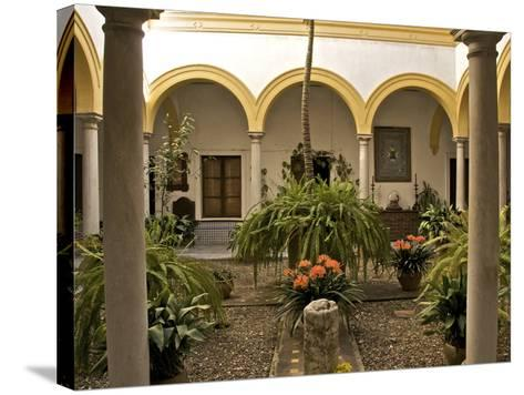 A Patio in the Alcazar, Seville, Andalusia, Spain, Europe-Guy Thouvenin-Stretched Canvas Print