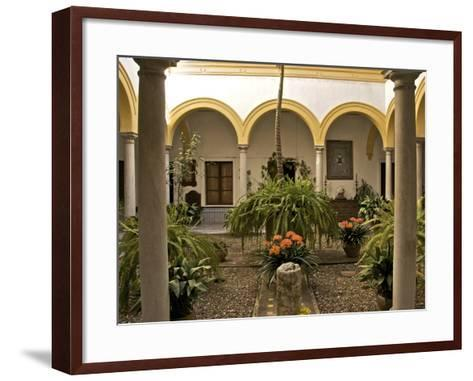 A Patio in the Alcazar, Seville, Andalusia, Spain, Europe-Guy Thouvenin-Framed Art Print